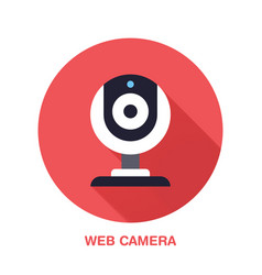 web camera flat style icon wireless technology vector image vector image
