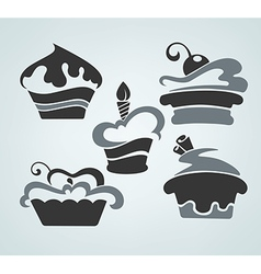 cake symbols vector image