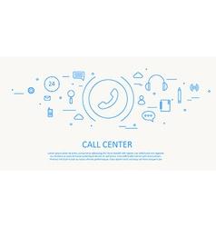CALL CENTER FLAT THIN DESIGN vector image vector image