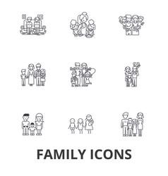family happieness home fun couple family tree vector image