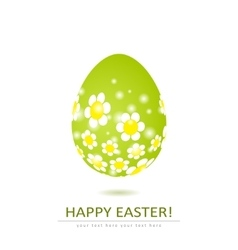 Floral egg shape isolated on white background vector image vector image