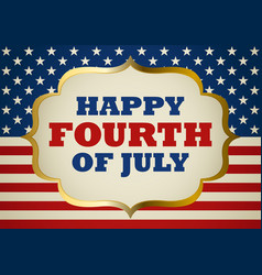 fourth of july symbol vector image