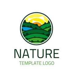 Nature template logo vector image
