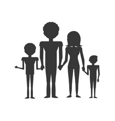 pictogram family love members vector image vector image