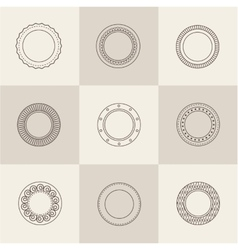 plate set vector image vector image