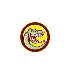 Rattle Snake Head Circle Cartoon vector image vector image