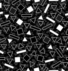 Retro black and white pattern with geometric shape vector image vector image