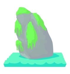 Sea cliff peaks cliff Beet icon cartoon style vector image