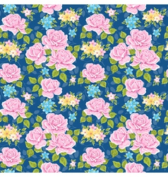 Seamless wallpaper pattern with roses vector image