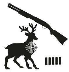 shotgun 08 vector image vector image