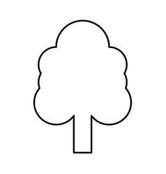 tree black icon vector image vector image