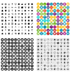 100 design guidance icons set variant vector