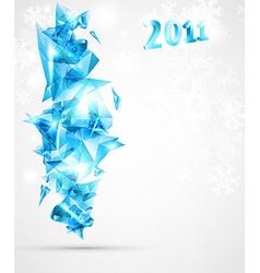 3D 2011 Block Letters vector