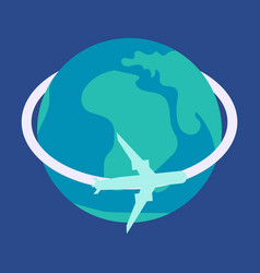 aircraft world icon vector image