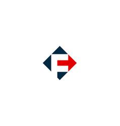 Arrow letter f logo icon design vector