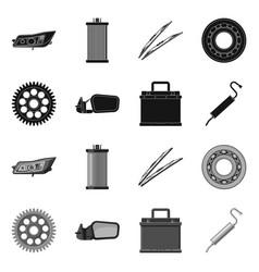Auto and part logo vector