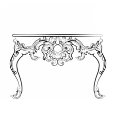 Baroque royal table with ornaments vector image