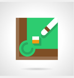 billiard equipment flat square icon vector image
