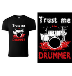 Black t-shirt with drums vector