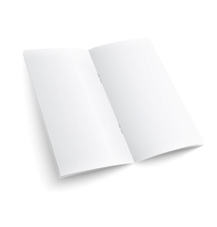 Blank paper brochure with clips vector