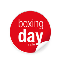 boxing day label tag sticker vector image
