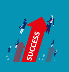 Businessteam successful workers concept business vector