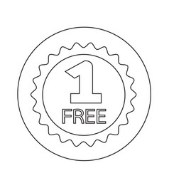 Buy one get one free icon vector