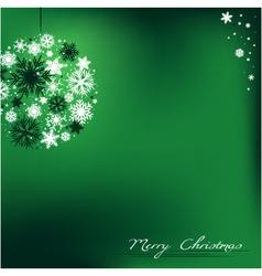 Christmas bulb background vector