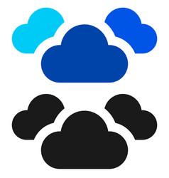 Cloud symbol simple cloud silhouette icon symbol vector