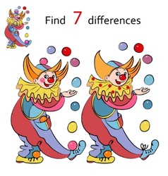 clowns find the differences vector image