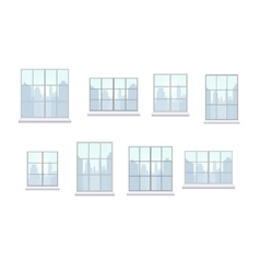 Collection of window frames of various shapes vector