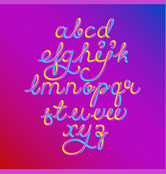 Color 3d alphabet pipe font vector