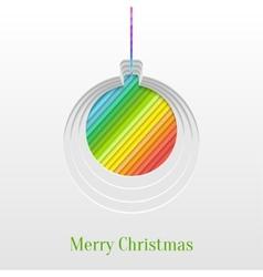 Creative Christmas Ball Greeting Card vector image