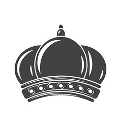 Crown Black icon logo element flat isolated on vector
