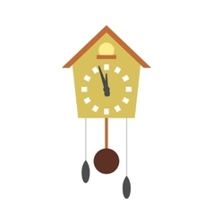 Cuckoo clock flat icon vector