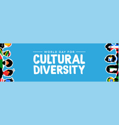 Cultural diversity banner country flag people vector