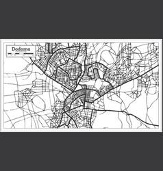 dodoma tanzania city map in retro style outline vector image