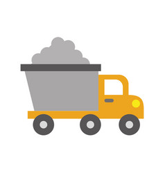 dump truck construction vehicle isolated icon vector image