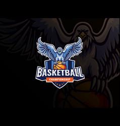 eagle mascot sport logo design vector image