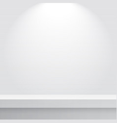 empty brightly lit studio table vector image