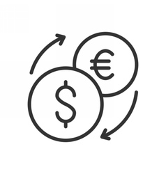 Exchange outline icon vector image