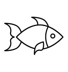fish thin line icon aquatic vector image