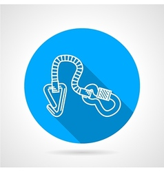 Flat color icon for climbing gear vector