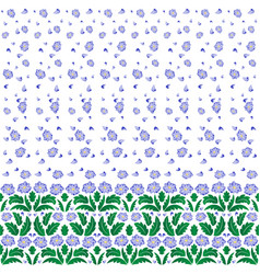 Floral pattern with border vector