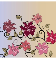 Flower abstract decor ornaments vector image