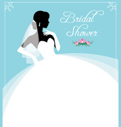 Flyer or invitation for a bridal shower vector