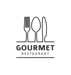 Food logo with fork knife and spoon vector