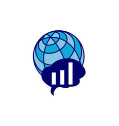 global smart think business logo vector image