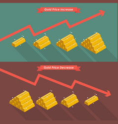 Gold with price chart vector