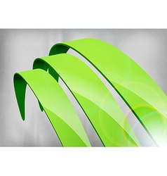 Green abstract curves vector